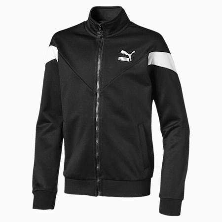 Iconic MCS Boys' Track Jacket JR, Puma Black, small