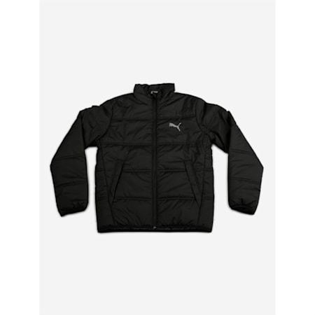 Essentials Padded Full Zip Kid's Jacket, Puma Black, small-IND