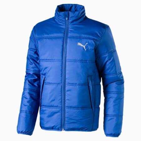 Essentials Padded Full Zip Kid's Jacket, Galaxy Blue, small-IND