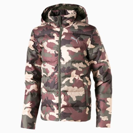 Classics Boys' Down AOP Jacket JR, Forest Night, small