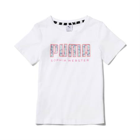 Camiseta PUMA x SOPHIA WEBSTER para niña, Puma White, pequeño