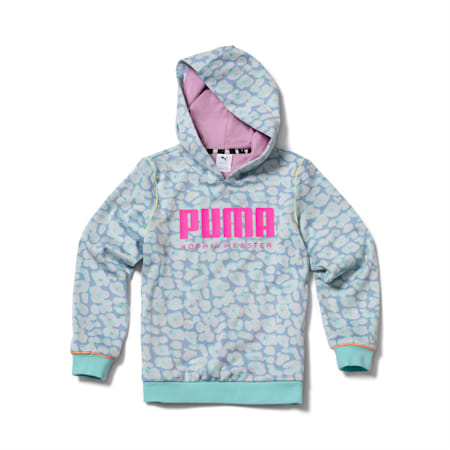 Sudadera con capucha PUMA x SOPHIA WEBSTER para niña, Dream Blue, pequeño