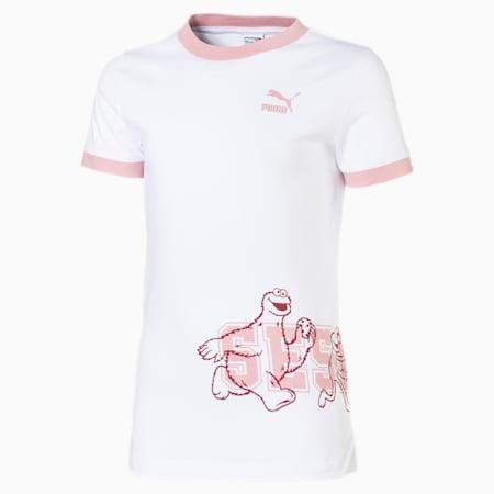 Camiseta PUMA x SESAME STREET para niña, Puma White, pequeño