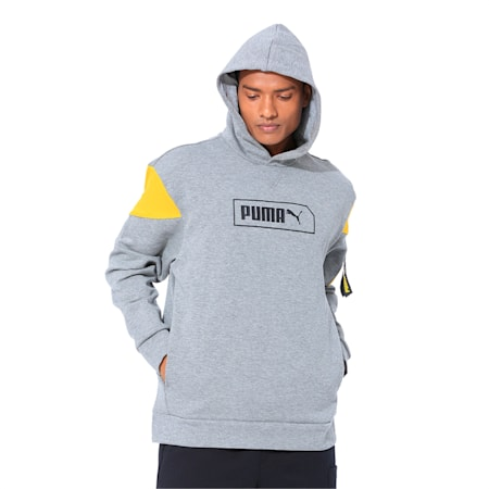NU-TILITY Men's Hoodie, Medium Gray Heather, small-IND