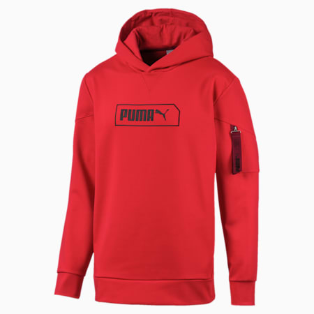 NU-TILITY Men's Hoodie, High Risk Red, small