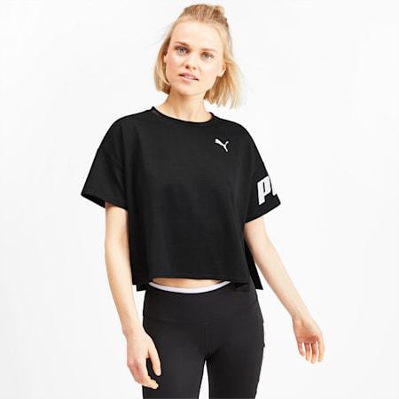 Modern Sport Women's Sweat Tee, Puma Black, small-SEA