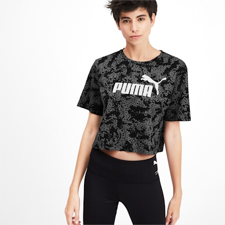 Elevated Essentials Cropped Women's Sweater, Puma Black, small-IND