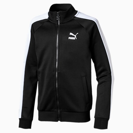 Iconic T7 Boys' Track Jacket, Puma Black, small-SEA