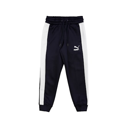 Iconic T7 Knitted Boys' Track Pants, Peacoat, small-IND