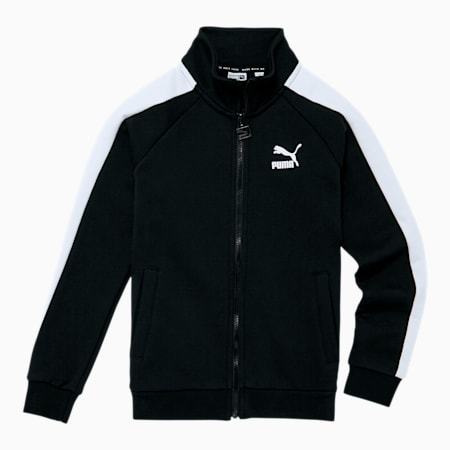 Iconic T7 Boys' Track Jacket JR, Puma Black, small