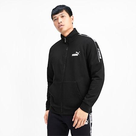 Amplified Men's Track Jacket, Puma Black, small