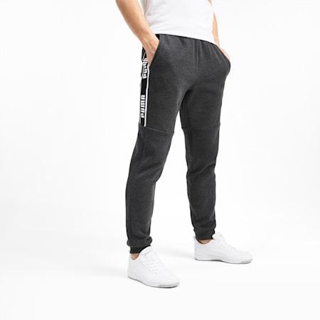 Amplified Fleece Men's Sweatpants, Dark Gray Heather, small-IND