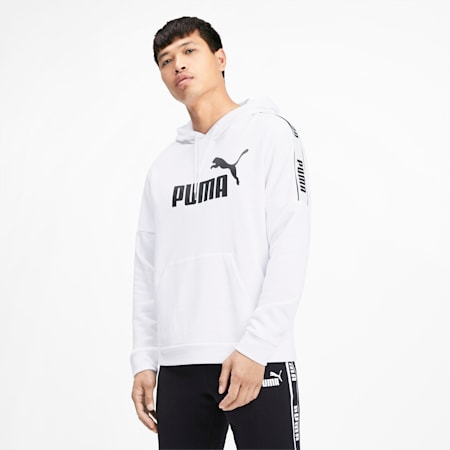 Amplified Men's Hoodie, Puma White, small