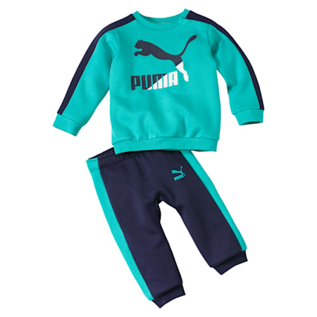 Minicats T7 Crew Neck Babies' Jogger Set, Blue Turquoise, small-IND