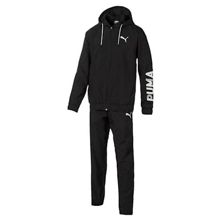 Modern Sport Hooded Men's Sweat Suit, Puma Black, small-IND