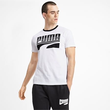 Rebel Bold Graphic Short Sleeve Men's T-Shirt, Puma White, small-IND