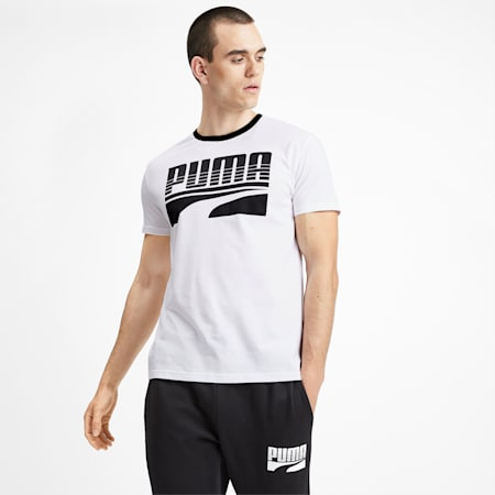 Rebel Bold Graphic Short Sleeve Men's Tee, Puma White, small-SEA
