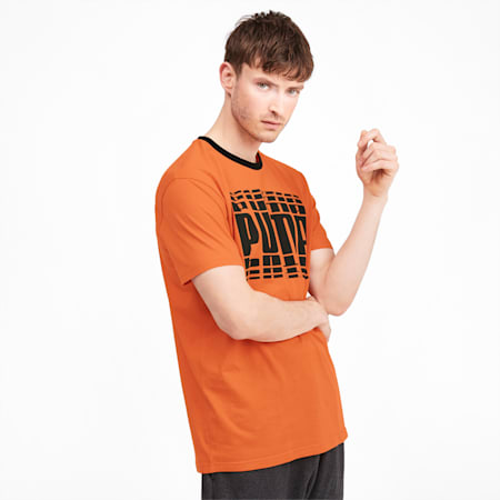 Rebel Bold Men's Tee, Jaffa Orange, small