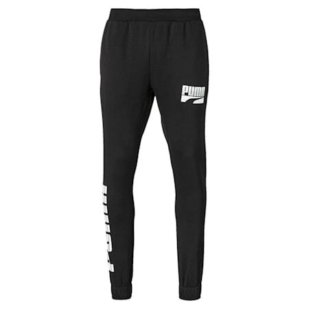 Rebel Bold Full Length Men's Sweatpants, Puma Black, small-IND