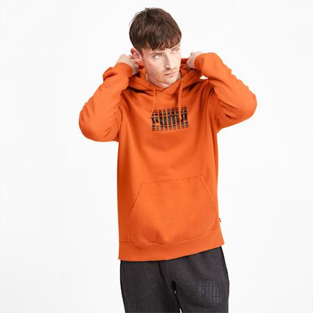 Rebel Block Full Length Men's Hoodie, Jaffa Orange, small-IND