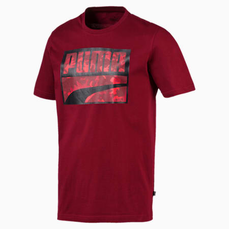 Rebel Camo Filled Men's Tee, Rhubarb, small-IND