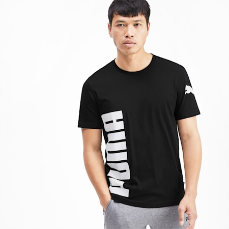 T-Shirt Big Logo Graphic pour homme, Puma Black, small