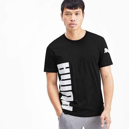 Big Logo Graphic Short Sleeve Men's Tee, Puma Black, small-SEA