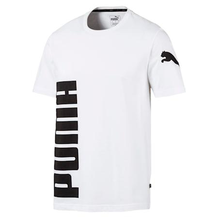 Big Logo Graphic Short Sleeve Men's Crewneck T-Shirt, Puma White, small-IND