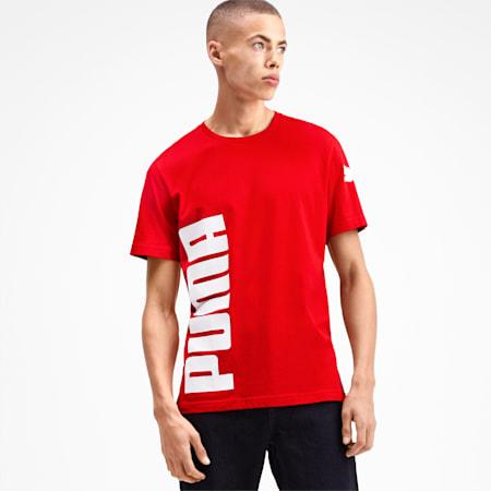 Big Logo Graphic Herren T-Shirt, High Risk Red, small
