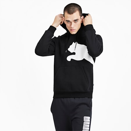 Big Logo Men's Fleece Hoodie, Puma Black, small
