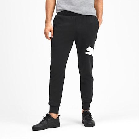 Men's Big Logo Fleece Sweatpants, Puma Black, small
