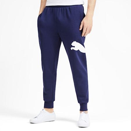 Men's Big Logo Fleece Sweatpants, Peacoat, small