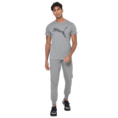 Double Line Tee, Medium Gray Heather, small-IND