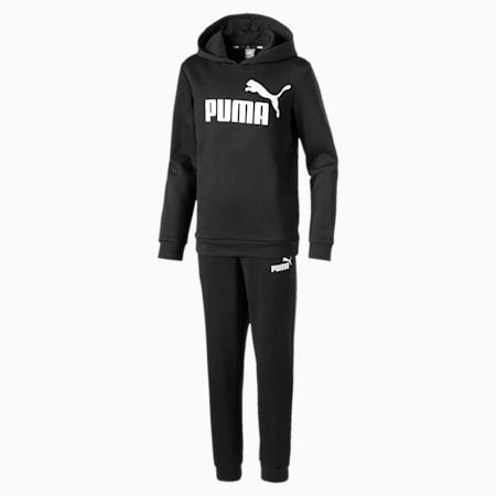 Essentials Hooded Boys' Track Suit, Puma Black, small-GBR