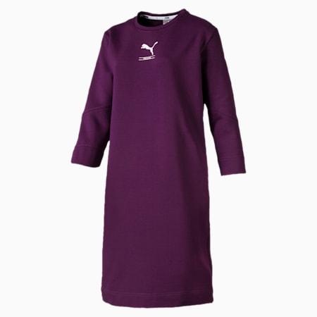 NU-TILITY ウィメンズ スウェット ドレス, Plum Purple, small-JPN