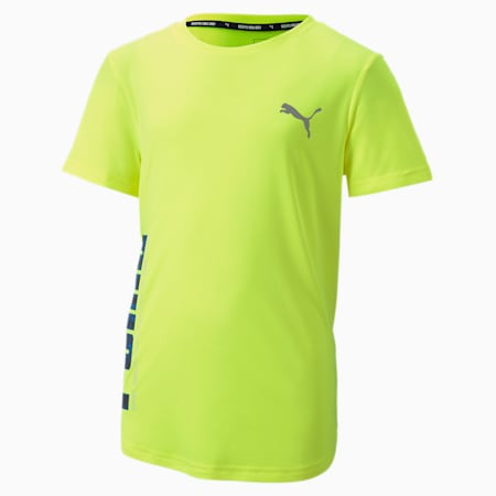 Active Sports Poly T-Shirt, Yellow Alert, small-IND