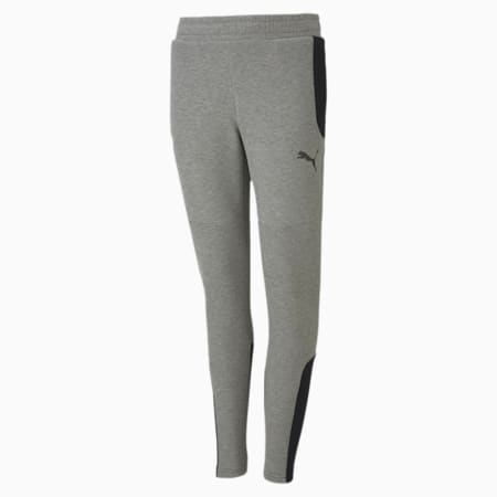 Evostripe Boys' Sweatpants, Medium Gray Heather, small