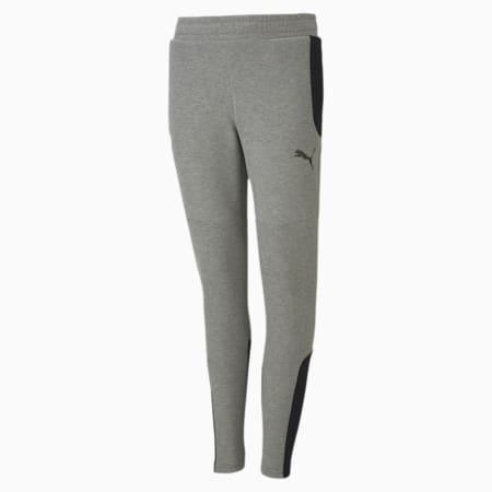 Pantalones de chándal para niño Evostripe, Medium Gray Heather, small