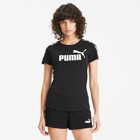Amplified Women's Tee, Puma Black, small-SEA
