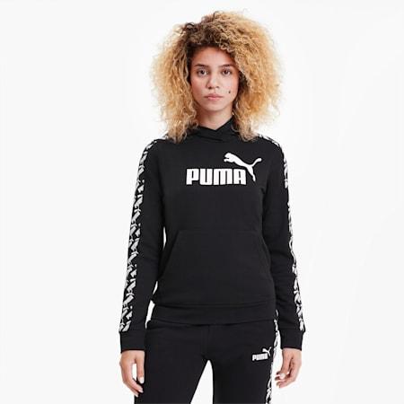 Felpa con cappuccio da donna Amplified, Puma Black, small