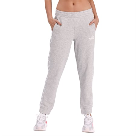 Amplified Women's Track Pants, Light Gray Heather, small-IND