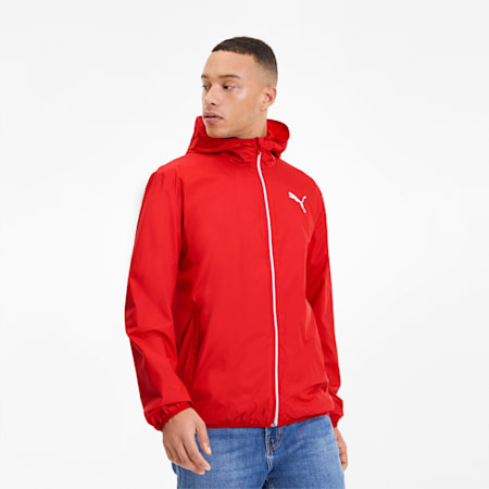 Essentials Men's Solid Windbreaker, High Risk Red, small