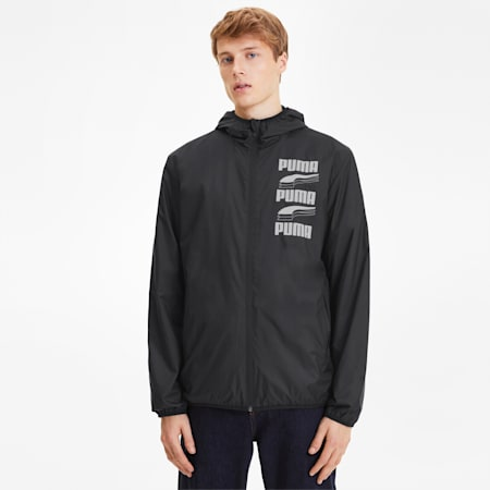 Essentials Rebel Men's Windbreaker, Puma Black, small