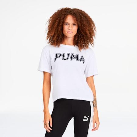 Modern Sports Women's Logo Tee, Puma White, small