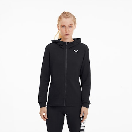 Modern Sports Women's Full Zip Hoodie, Puma Black, small
