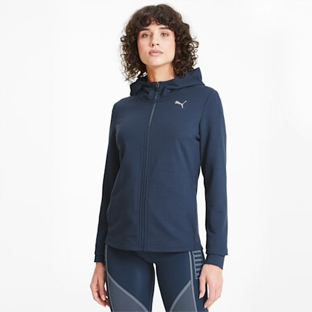 Modern Sports Women's Full Zip Hoodie, Dark Denim, small