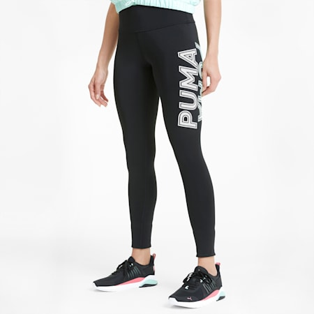 Modern Sports Damen Leggings, Puma Black-Mist Green, small