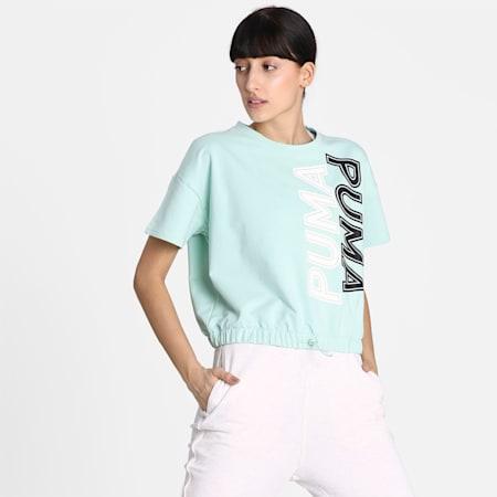 Modern Sports Sweat T-Shirt, Mist Green, small-IND