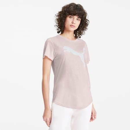 Evostripe T-shirt voor dames, Rosewater, small