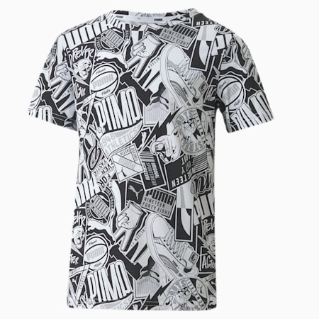T-Shirt Alpha pour garçon, Puma Black, small
